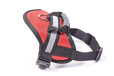 Pawsroad Big Dog Soft Reflective No Pull Harness Red Front