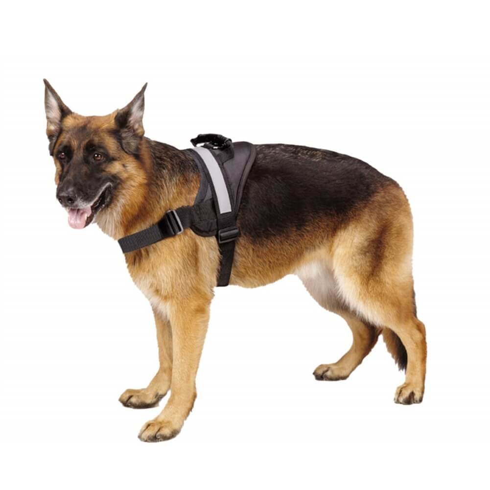 Pawsroad Big Dog Soft Reflective No Pull Harness Black
