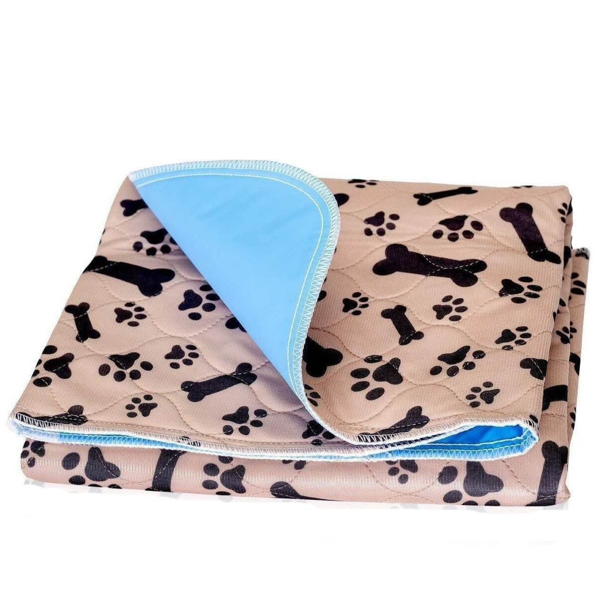 PAWSROAD 2 Pack Washable Reusable Puppy Dog Pee Pads