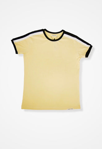 Beige Shoulder detailed Tee