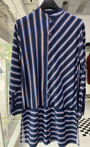 Blue Stripe kurta