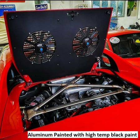 Engine Lid Dual Fan Shroud (Forged Carbon Fiber/Mirror Finish/Carbon Fiber/Raw Aluminum)