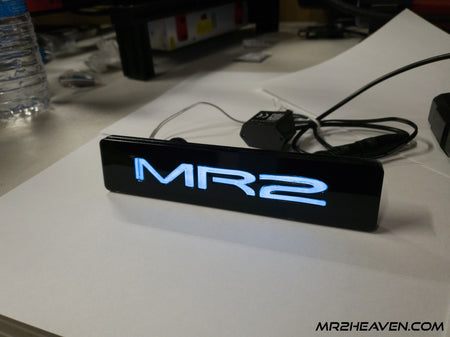 "Reproduction JDM ""MR2"" LED Glow Emblem (Available in OEM Blue or Red)"