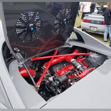 Engine Lid Dual Fan Shroud (Mirror Finish/Carbon Fiber/Raw Aluminum)