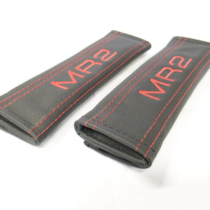 COOL GEL Padded Genuine Leather Seat Belt Pads
