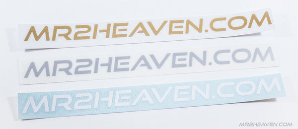 MR2Heaven Transfer Stickers - MR2 Heaven