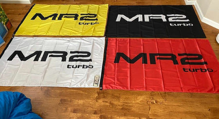 "MR2 ""Turbo"" Logo 3'x5' Automotive Flag"