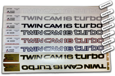 Reproduction Twin Cam 16 Valve Turbo Decal