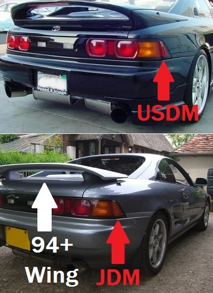 OEM 94+ USDM Tail Corner Lense (Red)