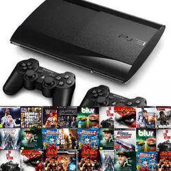 Playstation3 SuperSlim 500GB with 20 Top Ps3 Games - Gaming Console - used games
