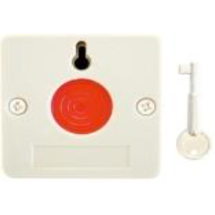 Plastic Hold Up Button - Key Reset (Beige)