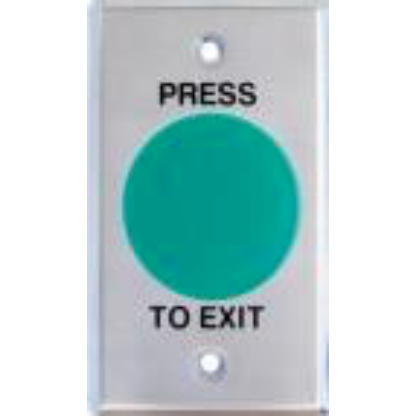Green Mushroom Exit Button, Large SS Plate, NO/NC CSM security suppliers Security wholesalers