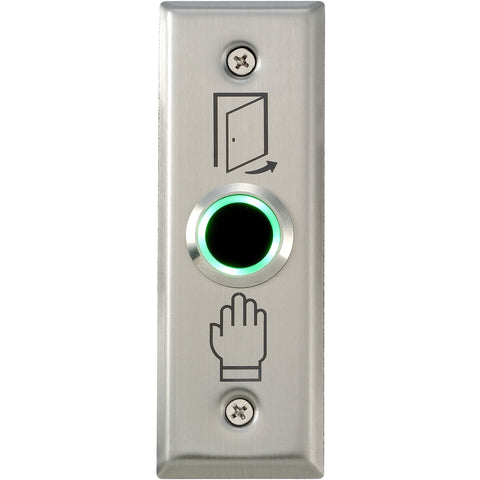 csmerchants.com.au  Touchless Exit Button 22mm, 115 x 39mm SS Plate CSM