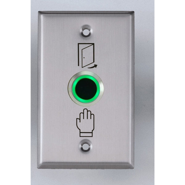 Touchless Exit Button 22mm, 115 x 70mm SS Plate CSM security suppliers Security wholesalers
