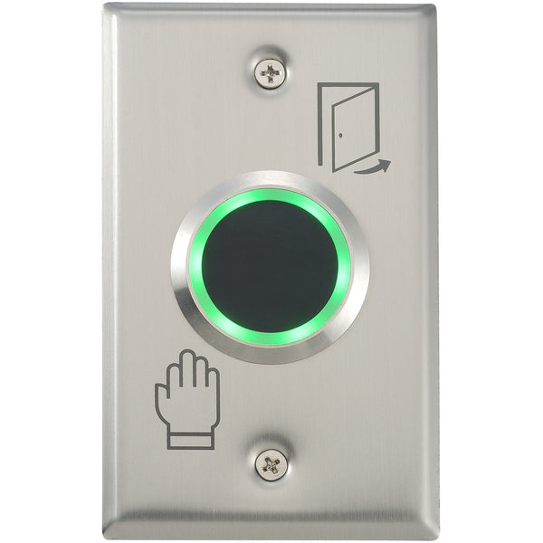 Touchless Exit Button 39mm, 115 x 70mm SS Plate CSM security suppliers Security wholesalers