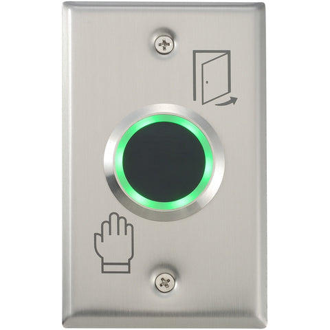 Touchless Exit Button 39mm, 115 x 70mm SS Plate