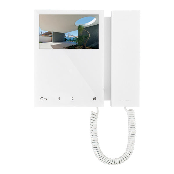 Mini Colour Monitor With Handset White Sbtop System - csmerchants.com.au