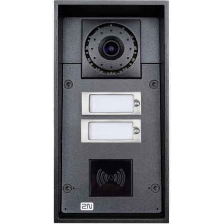 2N Helios  Helios IP Force 2 Buttons and 10W Speaker with HD Camera (Card Reader Ready) CSM