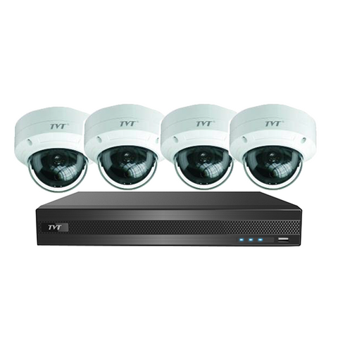 TVT 8CH 5MP PoE NVR+2TB + 4x 5MP Mini  Dome 2.8mm Kit
