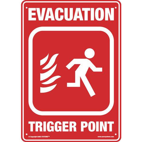 AarcEvac  AARC LARGE SAFETY SIGN EVACUATION 300(W)mm x 400(H)mm CSM