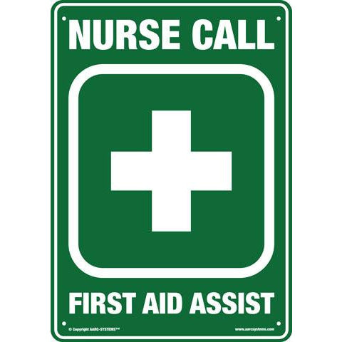 AarcEvac  AARC LARGE SAFETY SIGN  FIRST AID -NURSE CALL 300(W)mm x 400(H)mm CSM