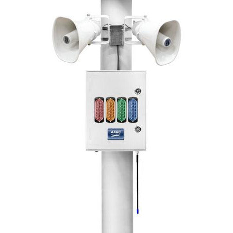 AARC  OUTDOOR POLE MNT SYSTEM RX w/2x Horn Spks & Visual Alert inc/Repeater CSM security suppliers Security wholesalers