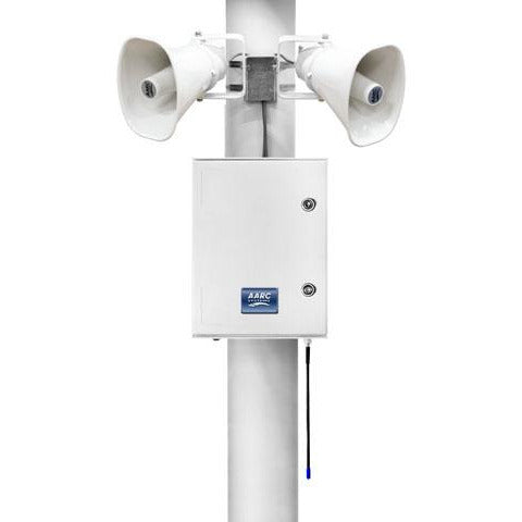 AARC  OUTDOOR POLE MNT SYSTEM RX w/2x Horn Spks CSM security suppliers Security wholesalers