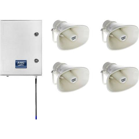 AARC  OUTDOOR WALL MNT SYSTEM RX w/4x Horn SpkÄ??s inc/Repeater CSM security suppliers Security wholesalers
