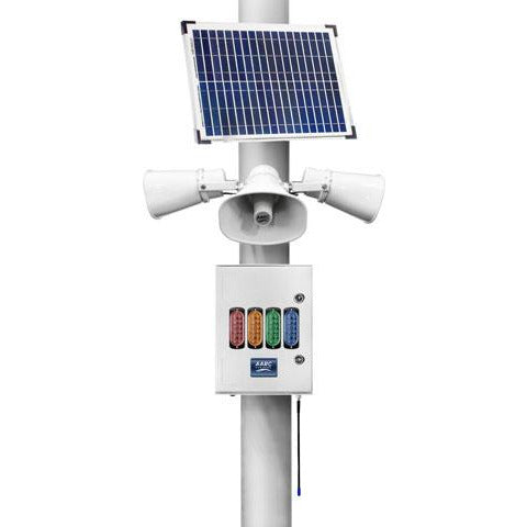 AARC  OUTDOOR SOLAR POLE MNT  RX w/3x Horn Spks & Visual Alert CSM security suppliers Security wholesalers