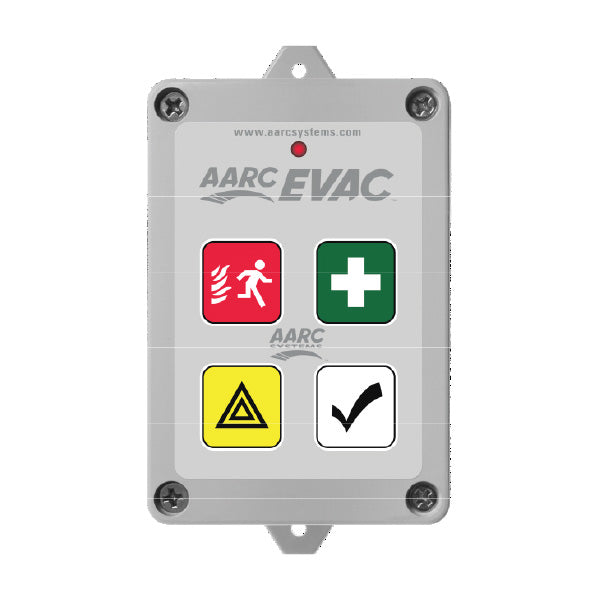 AARC  TX 5CH WALL MOUNT, EVAC, FIRST AID, DURESS (Prog/with up to 10 SOS Zones), ALL CLEAR & HIDDEN CANCEL CSM security suppliers Security wholesalers