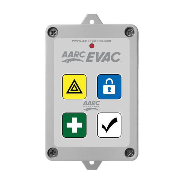 AARC  TX 5CH WALL MOUNT, LOCKDOWN, FIRST AID, DURESS, (Prog/with up to 10 SOS Zones) ALL CLEAR & HIDDEN CANCEL CSM security suppliers Security wholesalers