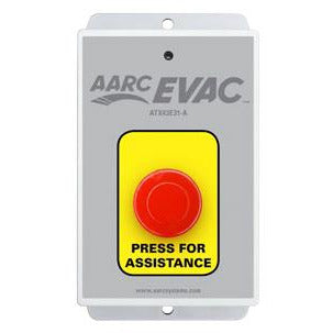 AARC EVAC TX 1CH WALL MOUNT, ASSISTANCE PUSH BUTTON - csmerchants.com.au