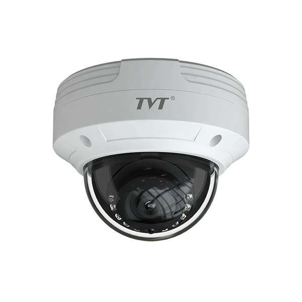 TVT 8MP Vandal Dome H.265 IP Camera, IR, Motorised AF 3.3~12mm Lens CSM security suppliers Security wholesalers