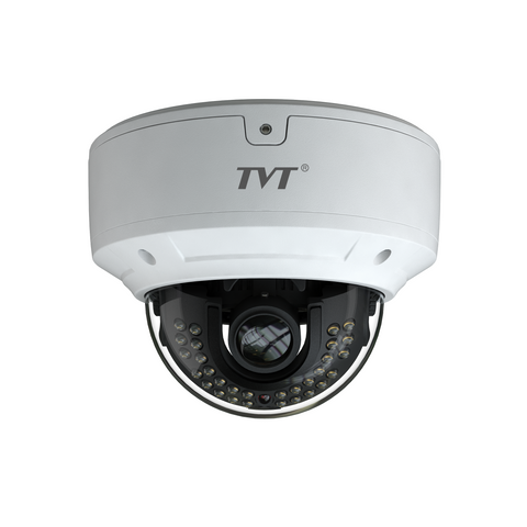TVT 5MP Vandal Dome H.265 IP Cam, 20-30m IR, Zoom 3.3-12mm