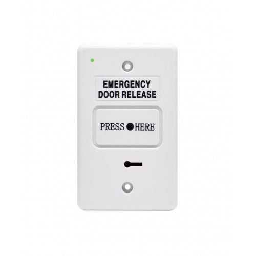 Resettable Emergency Dr Release w/ buzzer LED WHITE IP55 GPO 2xSPDT CSM