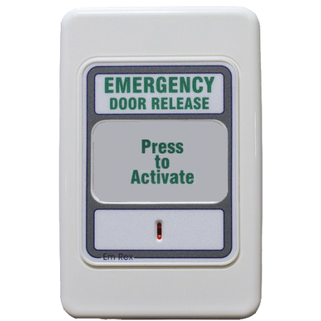 Trojan Wall Plate EM Press to Exit Button