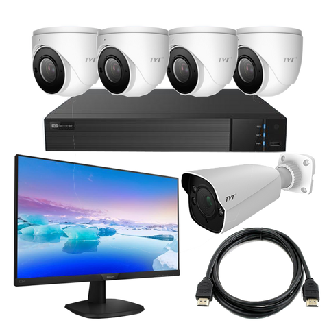 TVT Face Recognition Kit with 8CH NVR+4TB,6MP Eyeballs,1 Bullet, LCD Monitor CSM security suppliers Security wholesalers