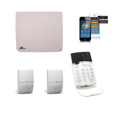 Crow 16 Zone KIT with 1x ICON Keypad,2 x SwanQuad,1x IP Module - csmerchants.com.au