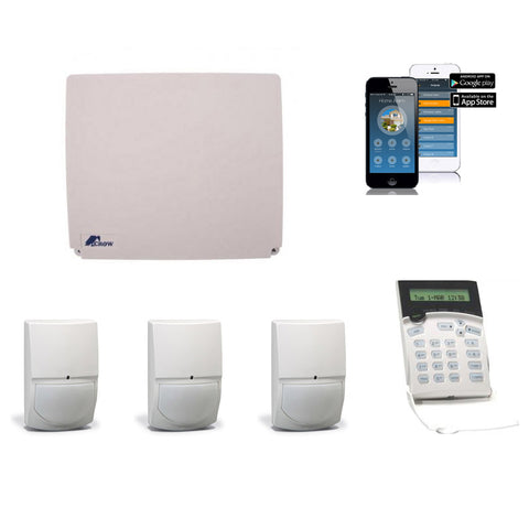 Crow 16 Zone KIT with 1x LCD Keypad,3x SwanQuad,1x IP Module - csmerchants.com.au