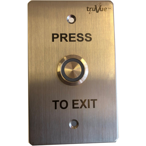 TruVue NO/NC/COM,EXIT BUTTON,115x70mm,Green LED CSM security suppliers Security wholesalers