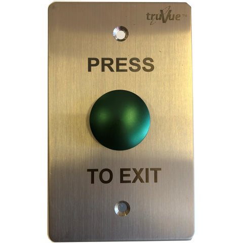 TruVue NO/NC/COM,EXIT BUTTON,115x70mm,Green Mushroom CSM security suppliers Security wholesalers