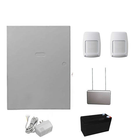 Honeywell Vista 48 Base Hard Wired Kit With Plug pack, Battery Wireless Receiver and 2 x immune wireless PIR CSM