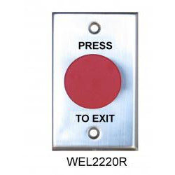 Red Mushroom Exit Button, Plate NO/NC