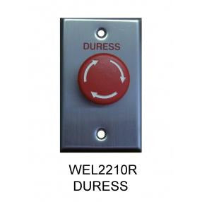 Emergency Mushroom Button, Twist to Reset, Plate -Red CSM security suppliers Security wholesalers