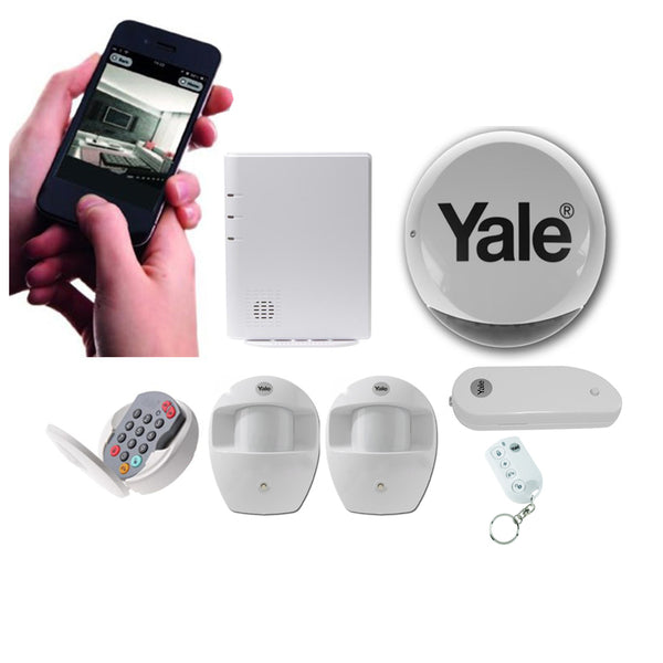 Yale 2 X PIR Wireless Smart Phone Alarm Kit CSM security suppliers Security wholesalers