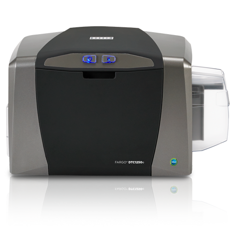 FARGO 1250e  s/s printer, c/w- SW, CLR RIB, cards,USB CSM security suppliers Security wholesalers