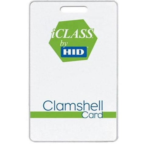 HID 2080 iClass Clamshell 13.56MHz 2k2 Card - Pre-Programmed