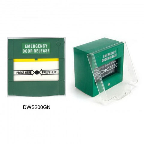 Resetable Emergency Door Release DWS200G - Green