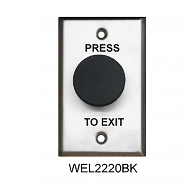 Black Mushroom Exit Button, Plate SS NO/NC CSM security suppliers Security wholesalers