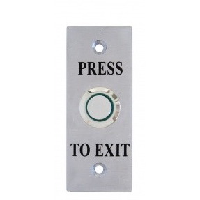 Flush Exit Button, Illum Green, Architrave